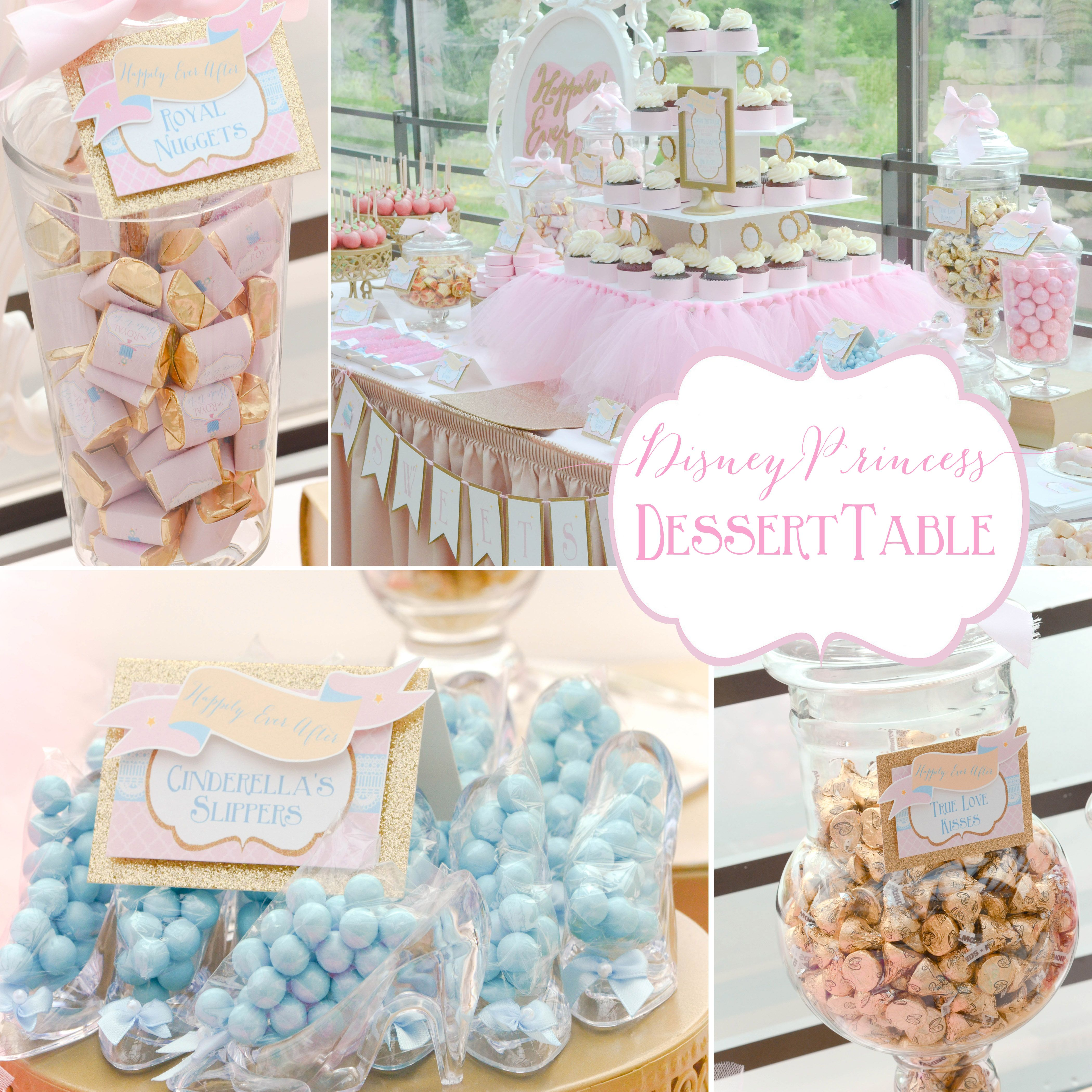 Happily Ever After Princess Party Desssert Table Candy Table Ideas Disney Princes Bridal Shower Desserts Table Bridal Shower Candy Bridal Shower Desserts