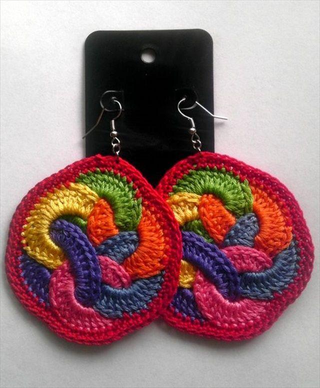 20 Crochet Earrings Ideas | Häckeln, Ketten und Armbänder