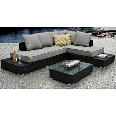 Soho Sectional Patio Set With Premium Sunbrella Fabric   $599