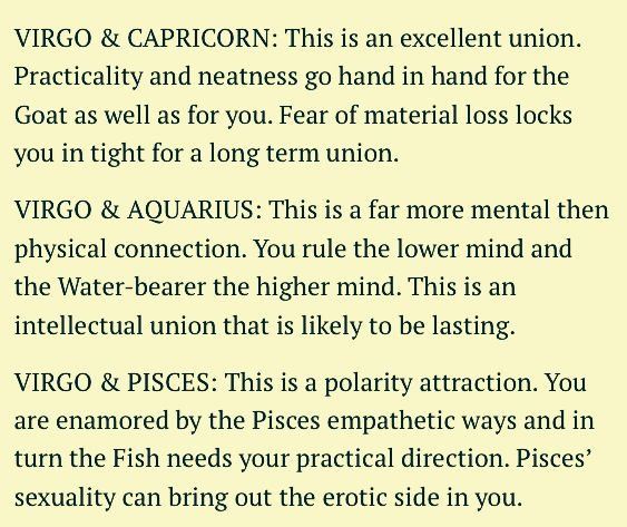 the zodiac sign virgo is compatible with who