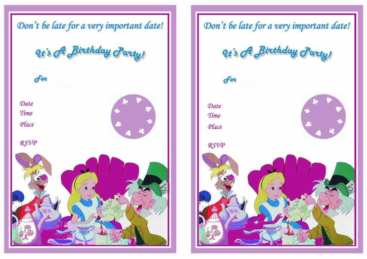 alice_in_wonderland_invitation1 | 12th Birthday Party Mia ...