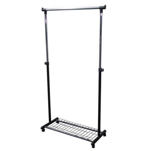 Ore International R505bk 62 Inch Coat Rack With Wheels Kitchen Mpn R505bk By Ore International 76 29 Move Up To 20 Coats To And From Your Car Or Home Depot