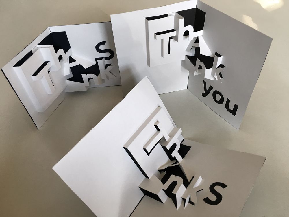 Thanks Pop Up Thank You Card You Can Print And Make Yourself Now Pop Up Card Templates Paper Pop Cards