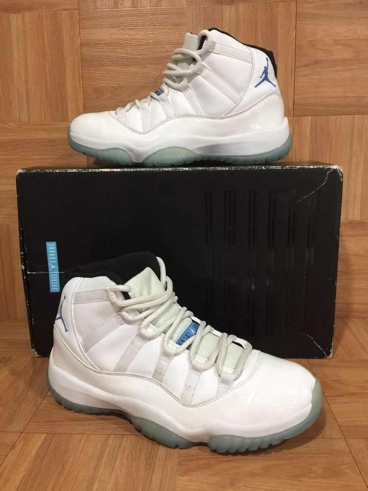 0d0f9985056 RARE🔥 Nike Air Jordan 11 XI Retro Legend Blue Comumbia Sz 9 Men's 378037- 117 LE