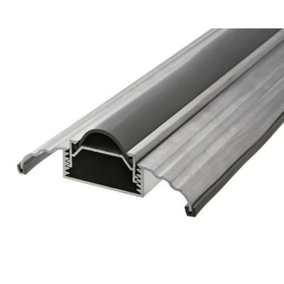 Frost King 3 1 2 In Wide X 36 In Silver Adjustable Height Threshold Dat39h The Home Depot Door Thresholds Exterior Door Threshold Vinyl Doors