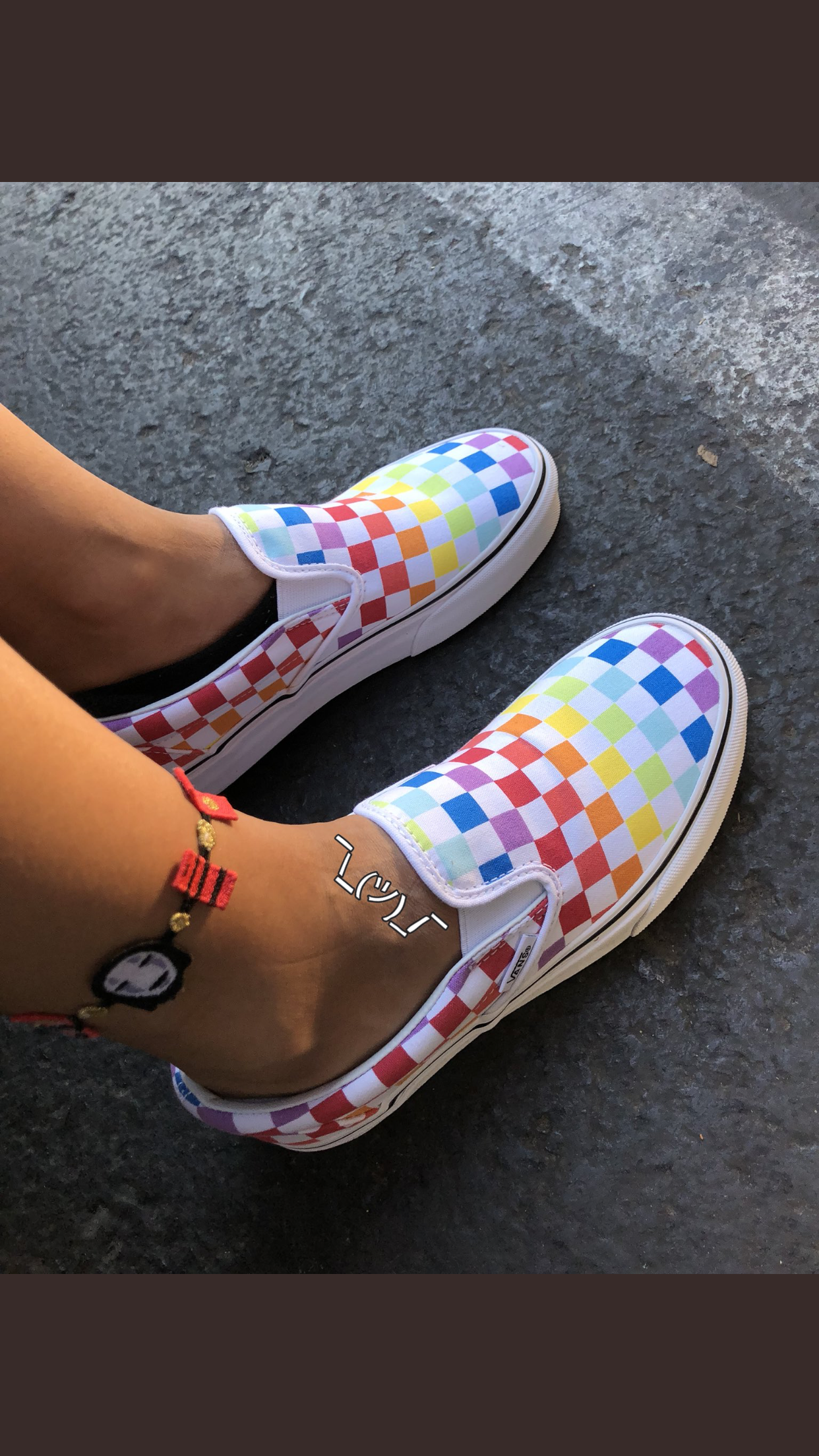 Rainbow checkered vans bfb8befc7cc