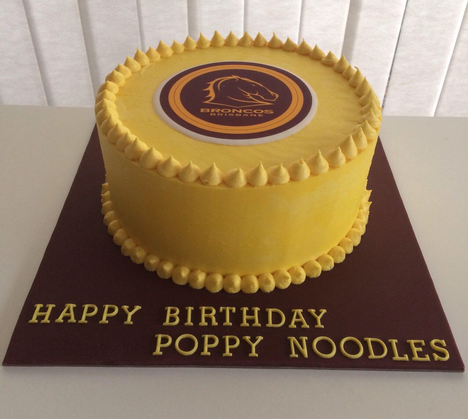 Brisbane Broncos cake My Cakes in 2019 Cake, Birthday