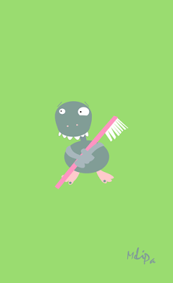 Monster with toothbrush printable
