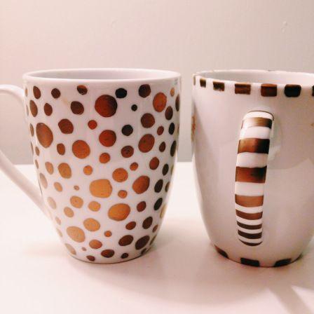 Make your own sharpie mugs- one of the biggest crafting trends right now! Fill with candy and give to your valentine #DIY   Musings from Providence
