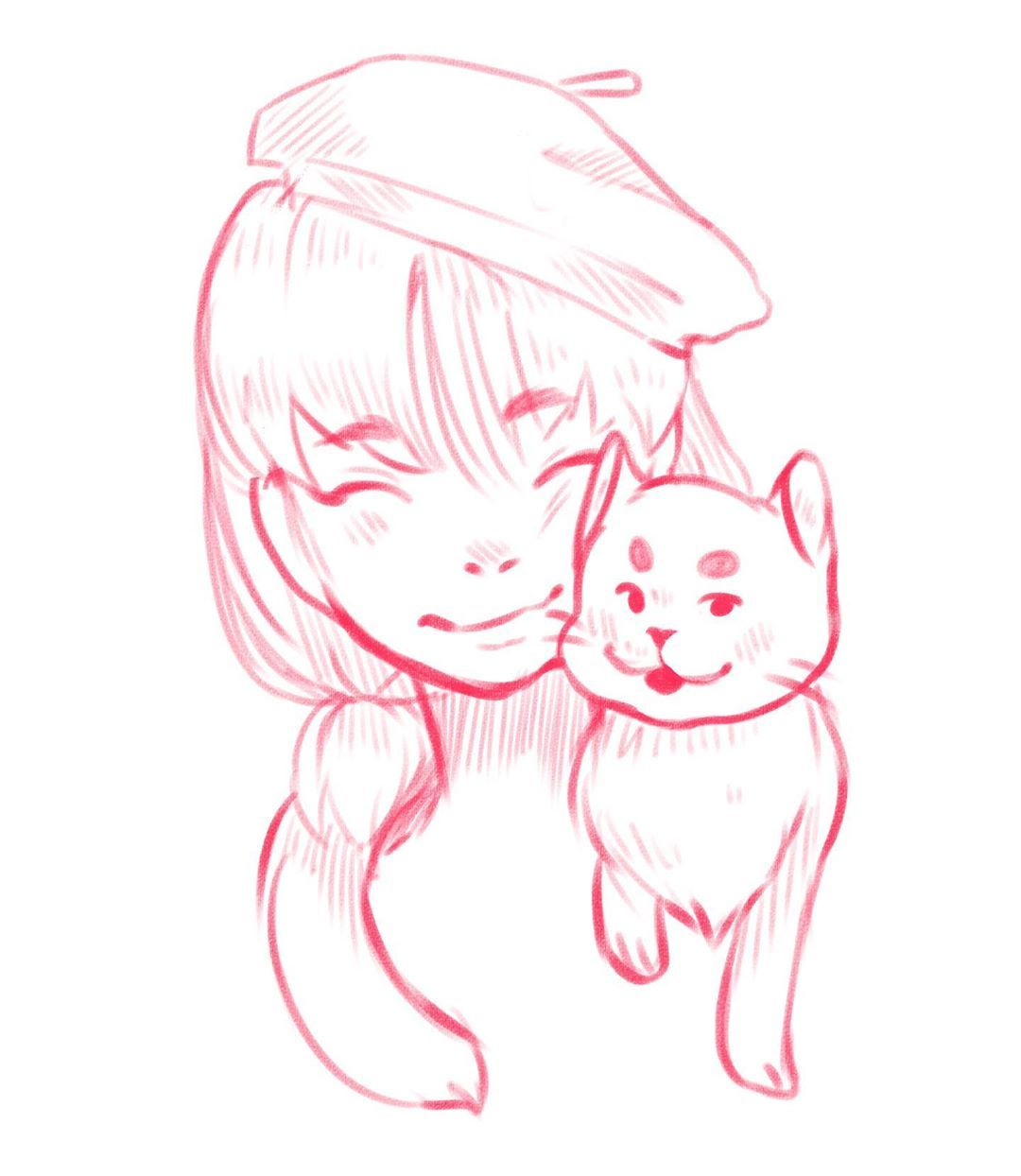 lil cute sketch I did back at the airport,, - - - - - - -