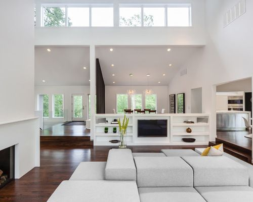 Remarkable Tv Room Divider Tv Room Divider Houzz Room Design Modern White Living Room Interior