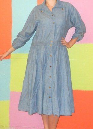 robe chemise longue jeans T2 40-42 printemps été vintage retro  ethnique romantique c3e76094405d
