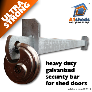 A1 ShedBAR™ Shed Door Security Bar Approx £80 for what we ...