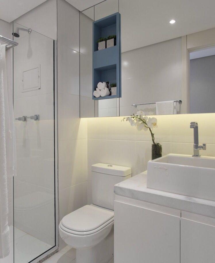 Banheiro nicho colorido