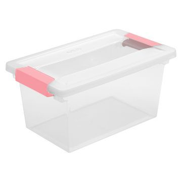 Gentil Circo™ Latching Lid Storage Tote   Pink Parfait Medium