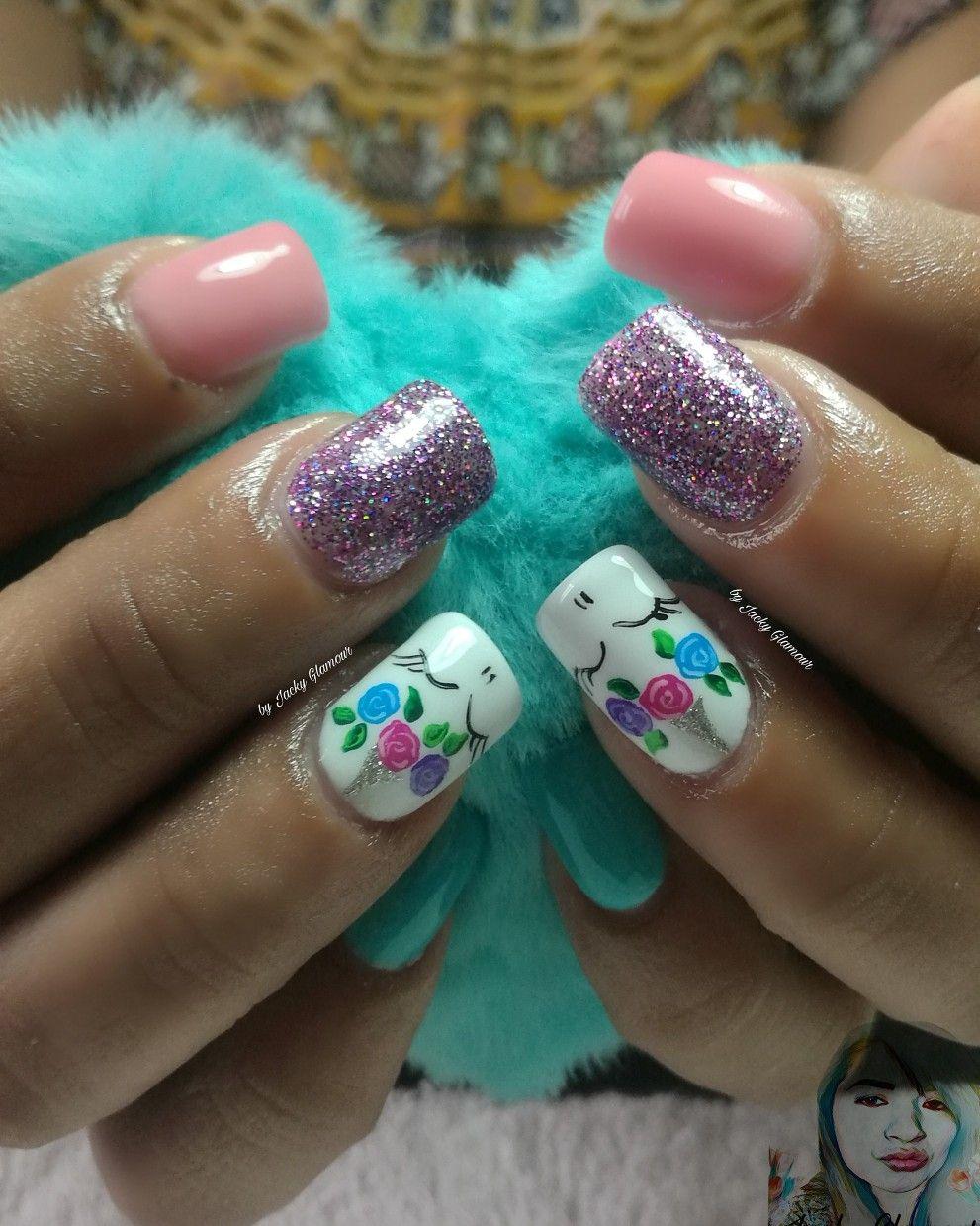 Uñas acrílicas #unicornio #uñas #cute #tumblr #glitter #colores ...