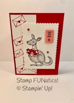 Kangaroo Valentine Card