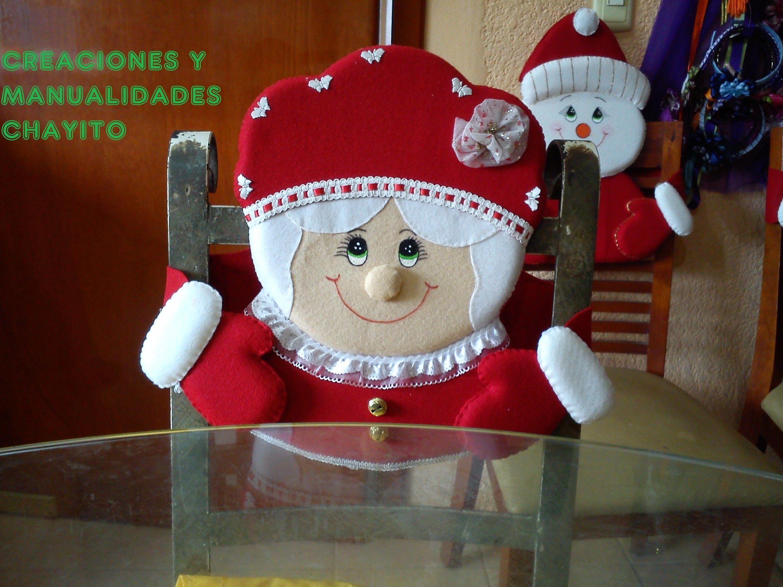 Cubre sillas adornos navide os pinterest cubre - Adornos navidenos para sillas ...