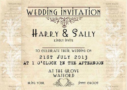 Vintage Lace wedding invitations shabby chic