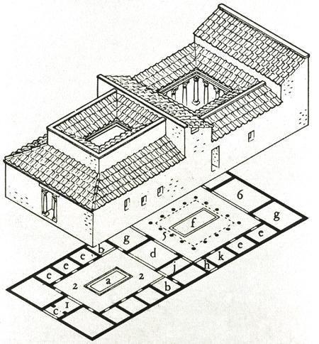 Roman Villa Impluvium 04_floor plans Building map