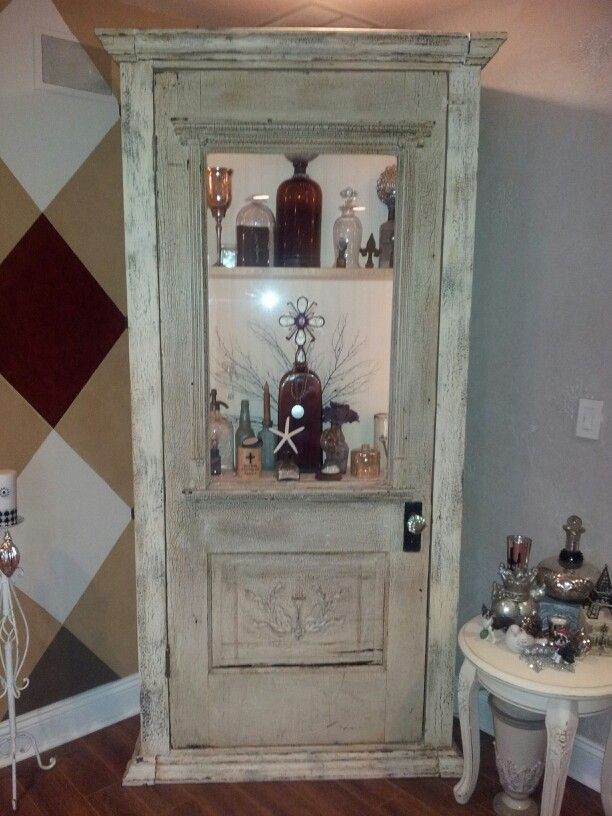 My Antique door cabinet that my hubby built for,me - My Antique Door Cabinet That My Hubby Built For,me Becky's SHIELDS