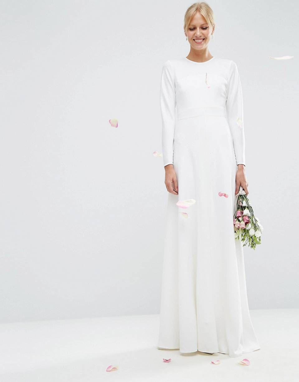 ASOS BRIDAL Paneled Seamed Fishtail Maxi Dress | just married ...