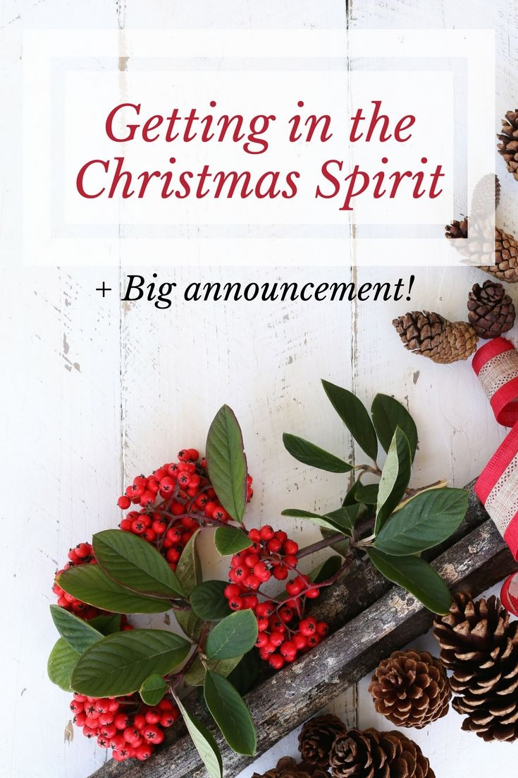 Getting in the Christmas Spirit + Big Announcement!