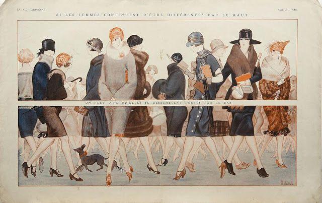 Art Deco Fashion Illustration, La Vie Parisienne.