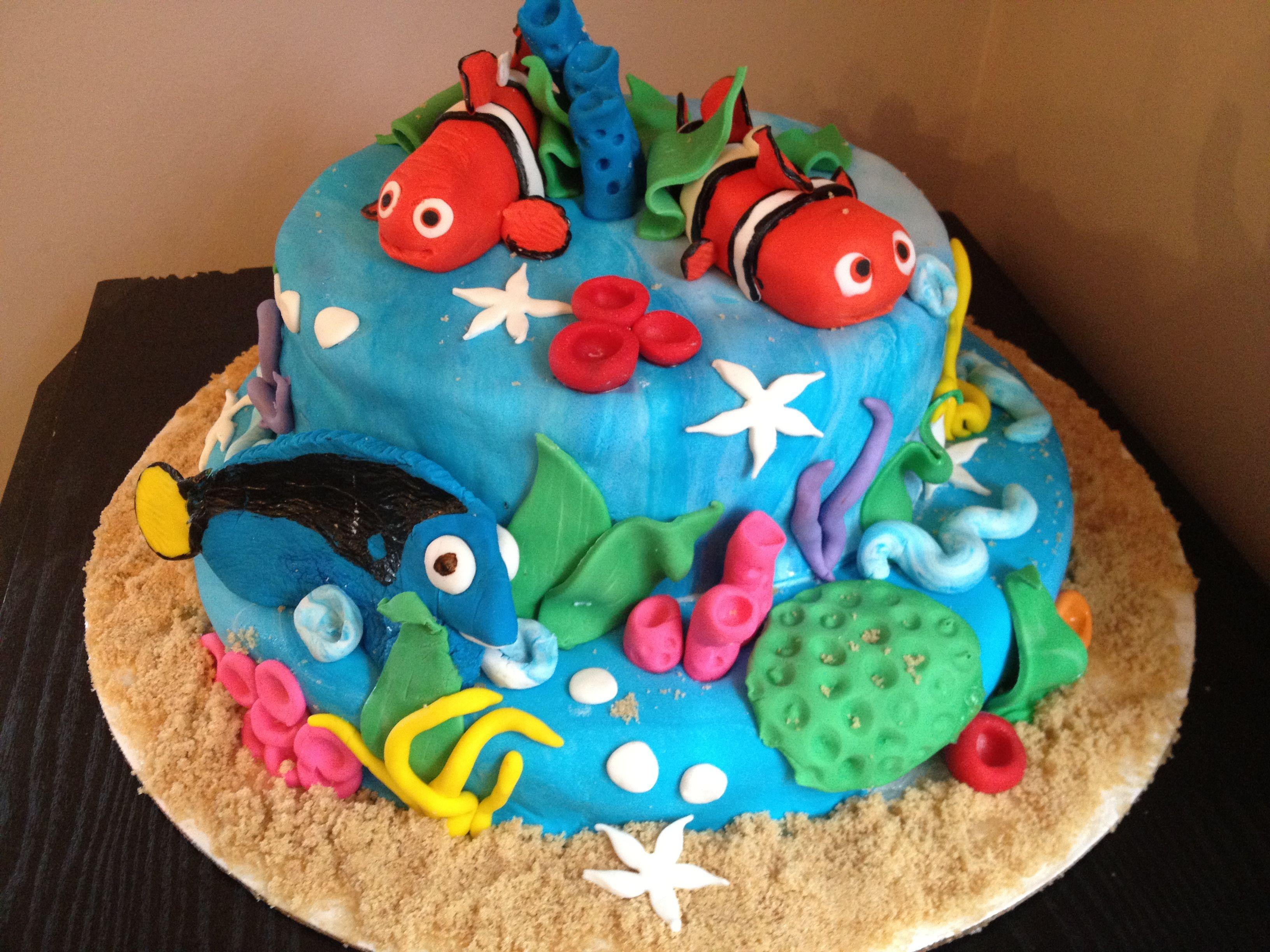 Finding nemo food cake birthday cake