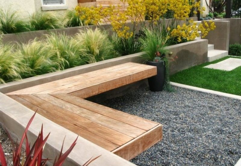 Attractive 53 Gartenbank Design Ideen Aus Holz Stein Amp Schmiedeeisen Gartenbank  Modern Holz Und Stein #ContemporaryGardenLandscaping