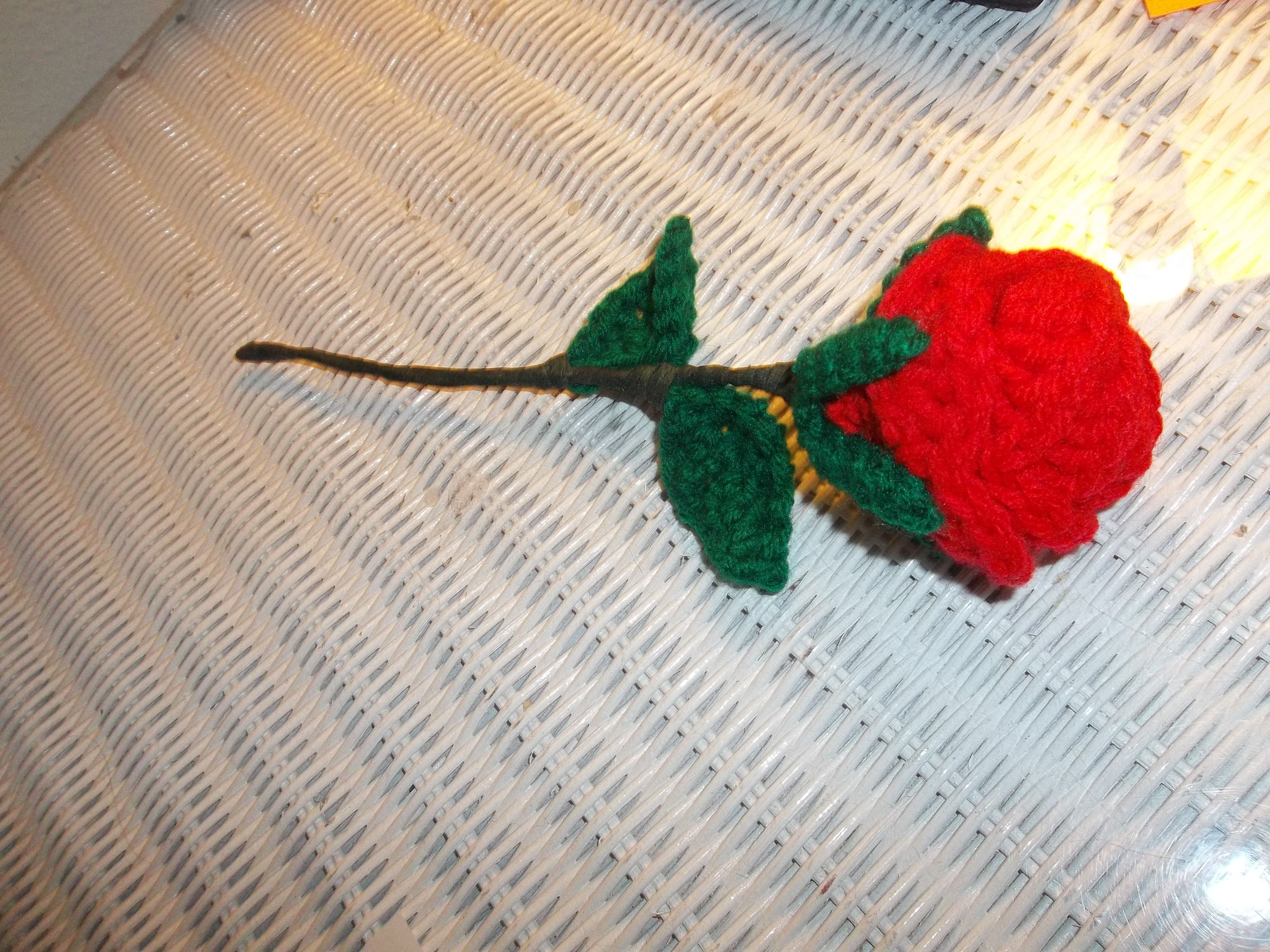 Crochet rose - consignment WG Sold $2.50 each (4)