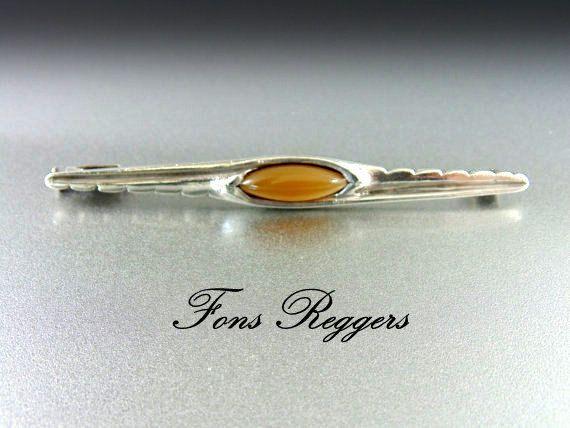 Rare 1920's Fons Reggars Bar Pin Brooch Dutch by TheOldJunkTrunk
