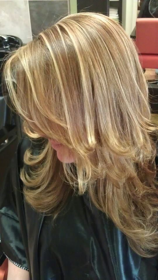 Two Toned Blonde Highlights My Work Hair Styles Hair