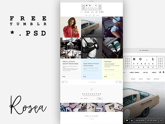 theme design template for tumblr graphic freebies psd ai sketch