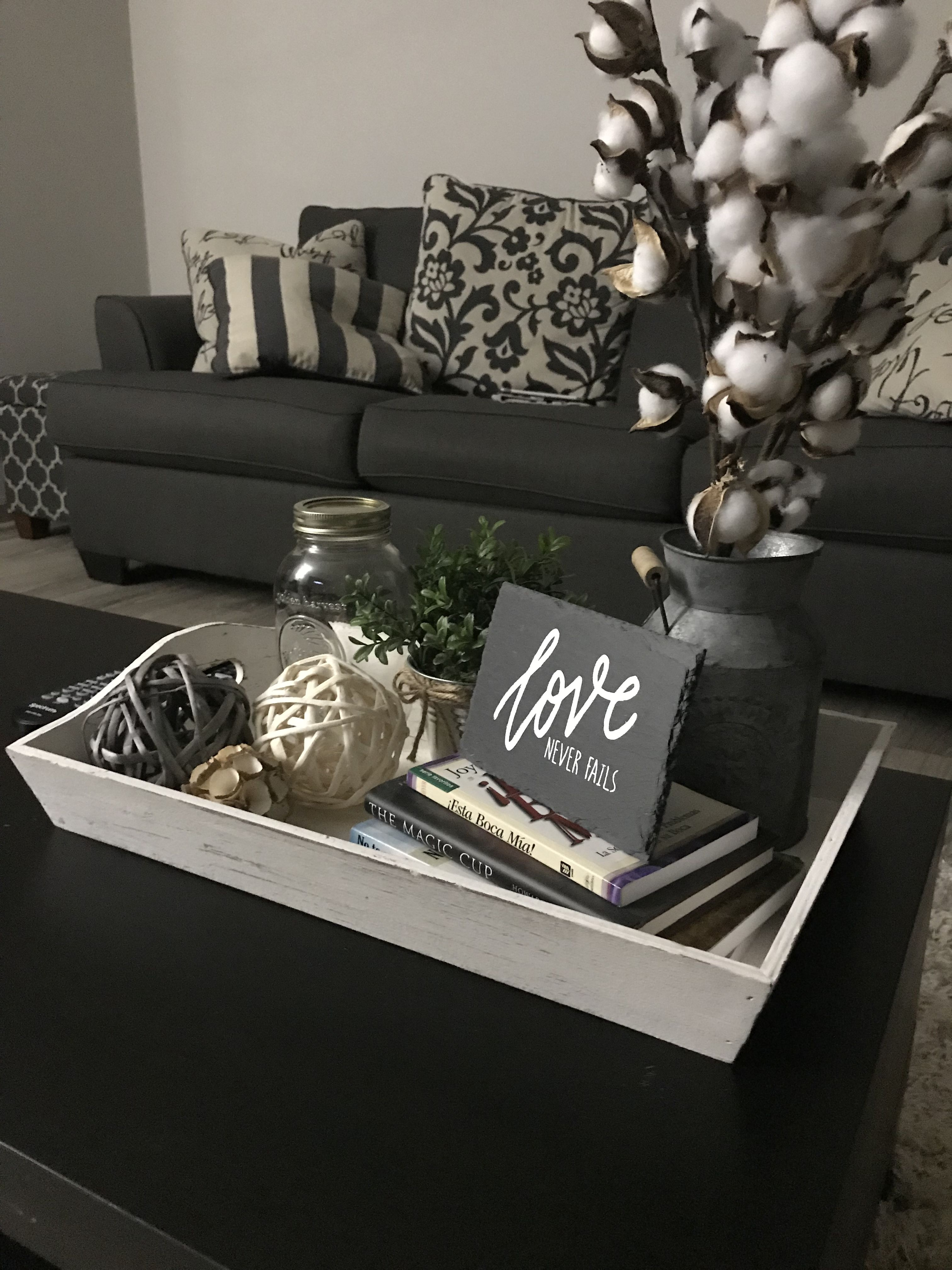 Coffee Table Tray With Images Farmhouse Coffee Table Decor
