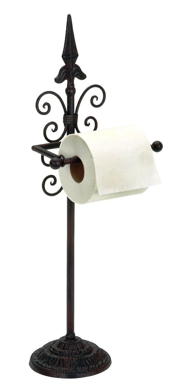 Metal Toilet Paper Stand Part - 40: Simple Metal Toilet Paper Holder Distressed Brown Bathroom Decor 66506 -  Bath Accessories - Home Decor U0026 Accessories