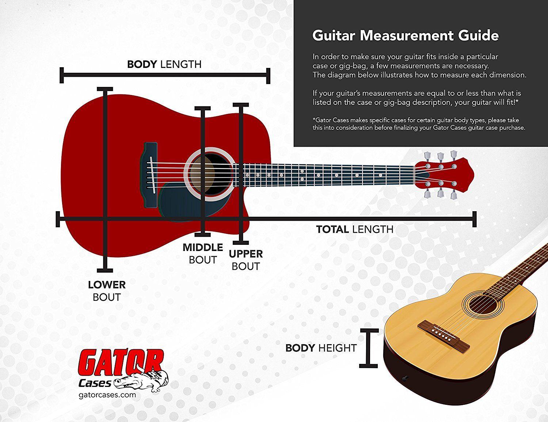 Amazon Com Gator Cases Gtsa Series Acoustic Dreadnought Guitar Case With Tsa Locking Latch Musical Instruments Guitar Guitar Case Case