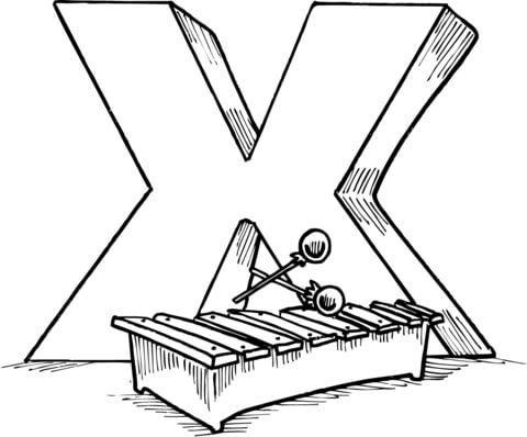Letter X Is For Xylophone Coloring Page Alphabet Coloring Pages