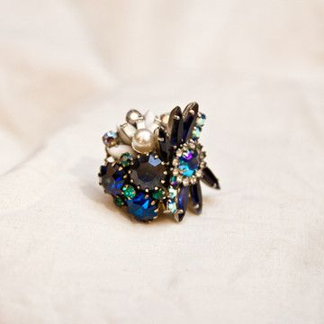 Viola Adjustable Ring by Paula Michelle--was a vintage earring