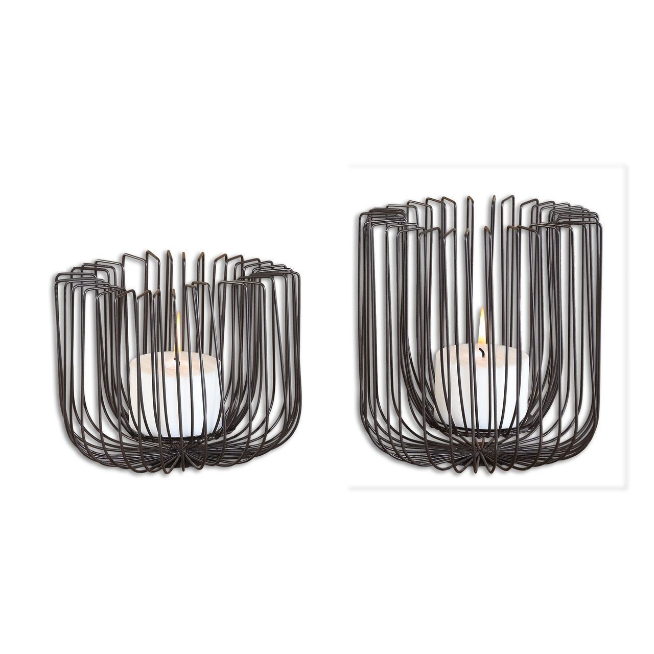 Uttermost flare black wire candleholders s accesorios