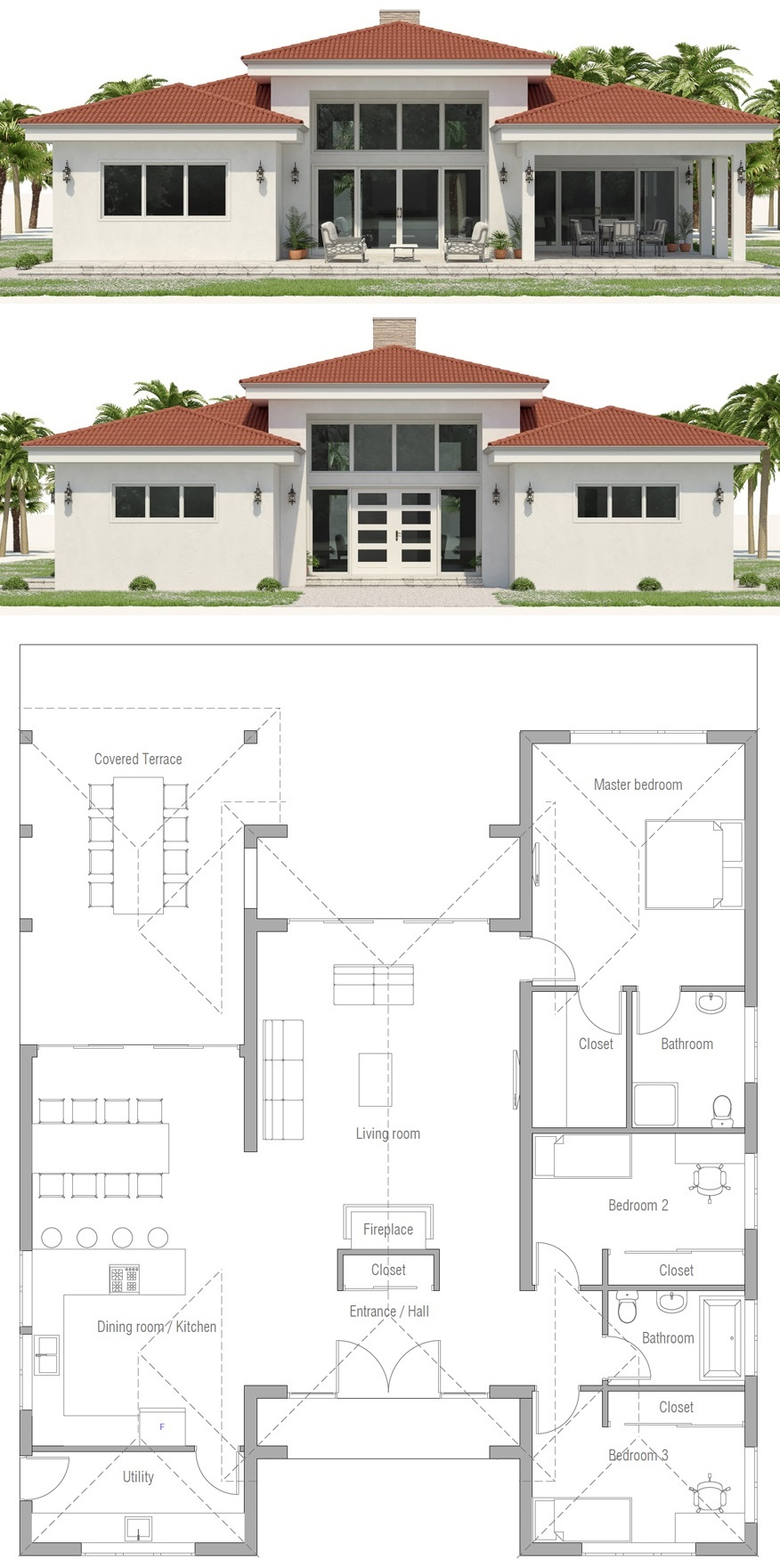 House Plan Ch573 Indian House Plans My House Plans Beach House Plans
