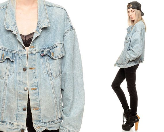 Vintage 80s 90s Lee Jean Jacket Light Blue Womens Mens Denim