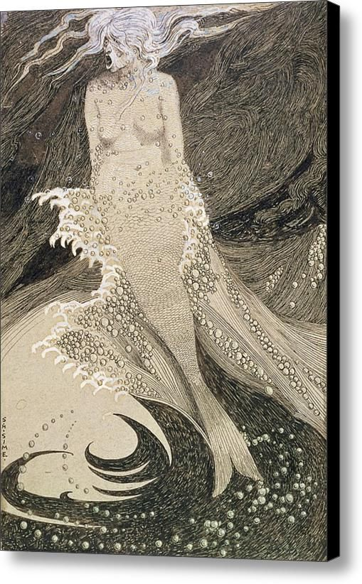No.2490 The Mermaid Canvas Print / Canvas Art By Sidney Herbert Sime