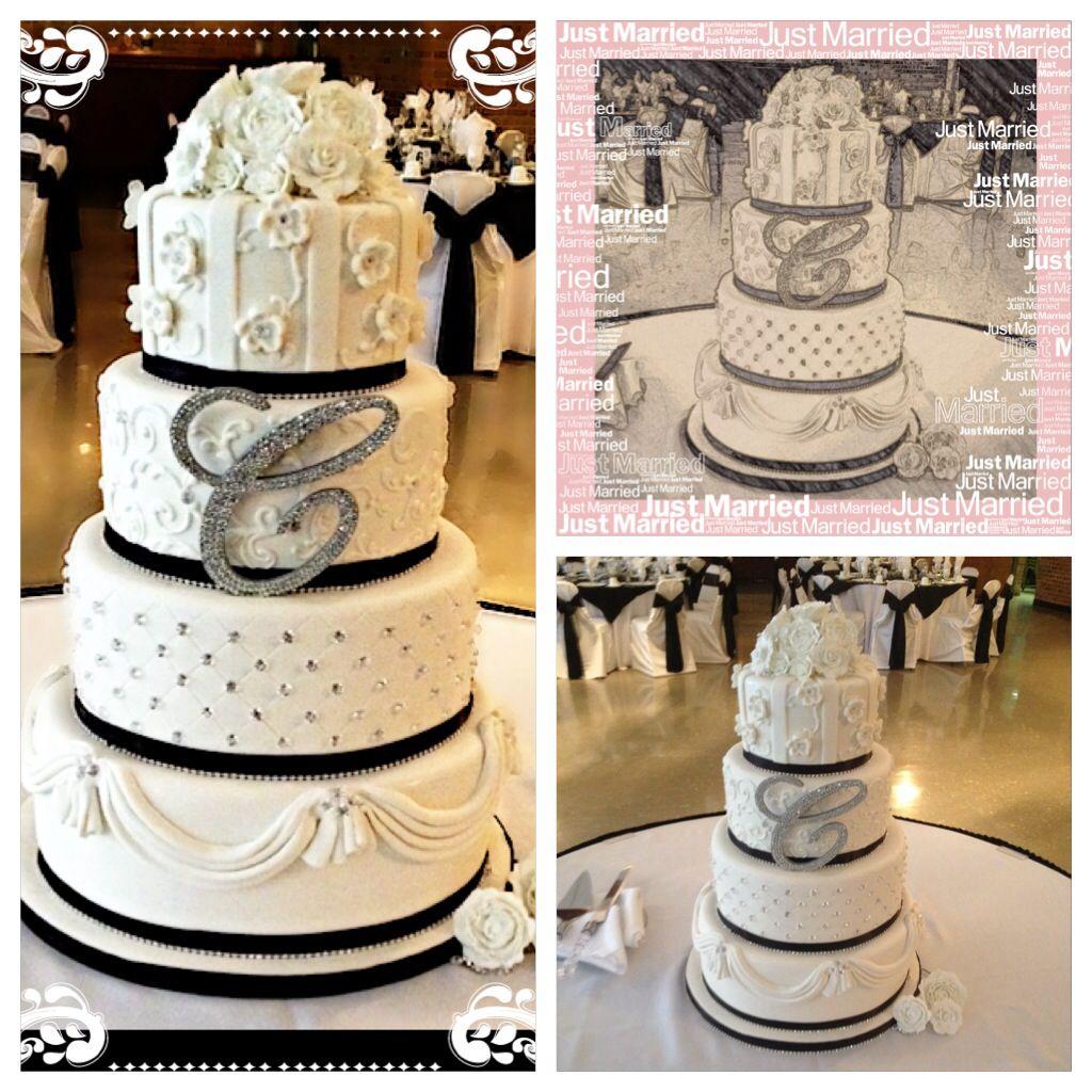 Crystal, Bling Wedding Cake