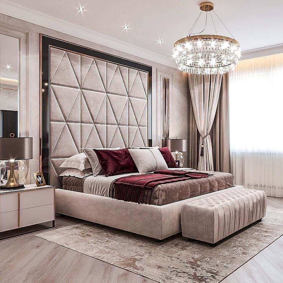 Love this elegant master bedroom design 👌Follow me ...