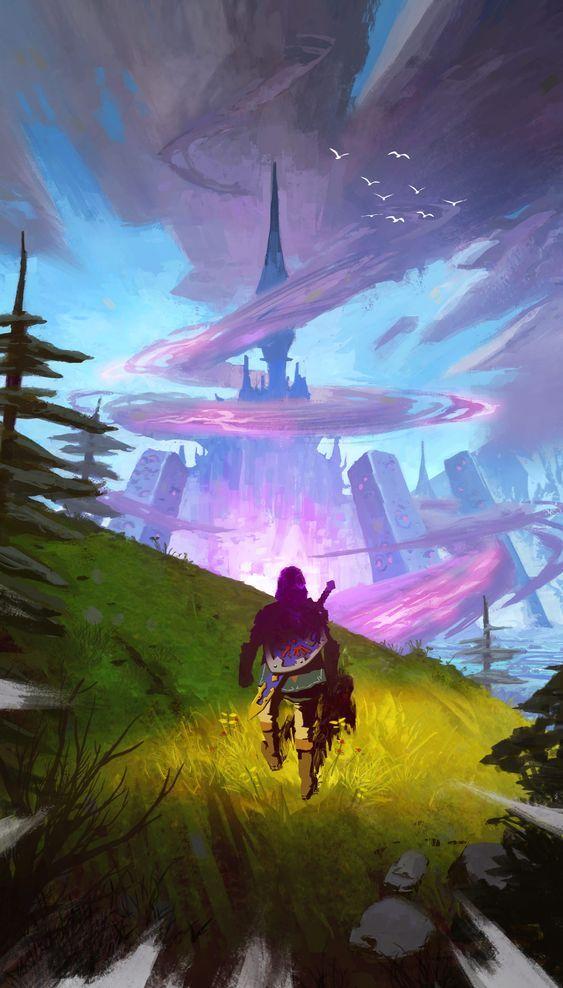 El Héroe Listo Para Entrar En El Castillo A Lenda De Zelda Personagens De Videogame Hyrule Castle