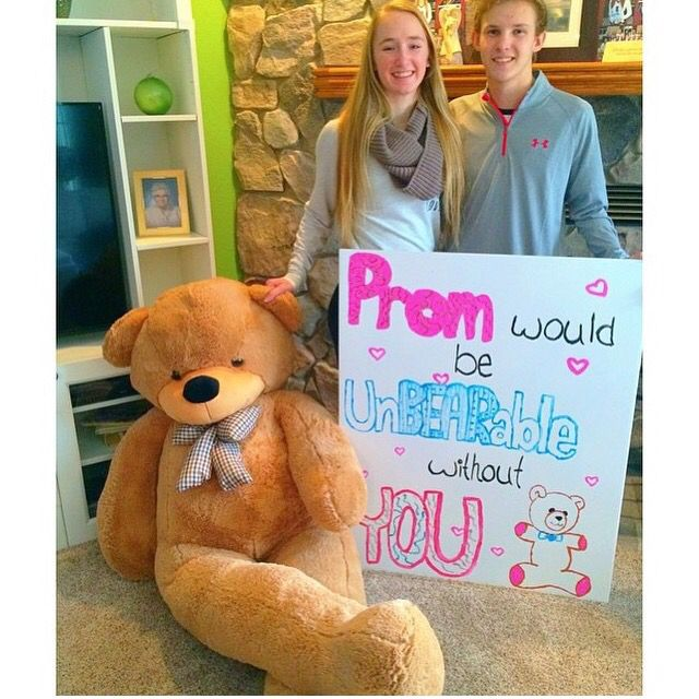 Unbearable Cute Prom Proposals Pinterest Prom Sadie Hawkins