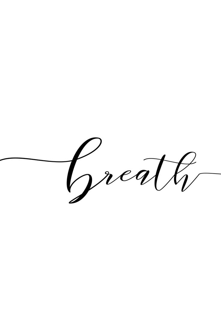 Convertidor De Letras Cursivas Para Tatuajes breath poster, woman printable gift, desk decor ideas
