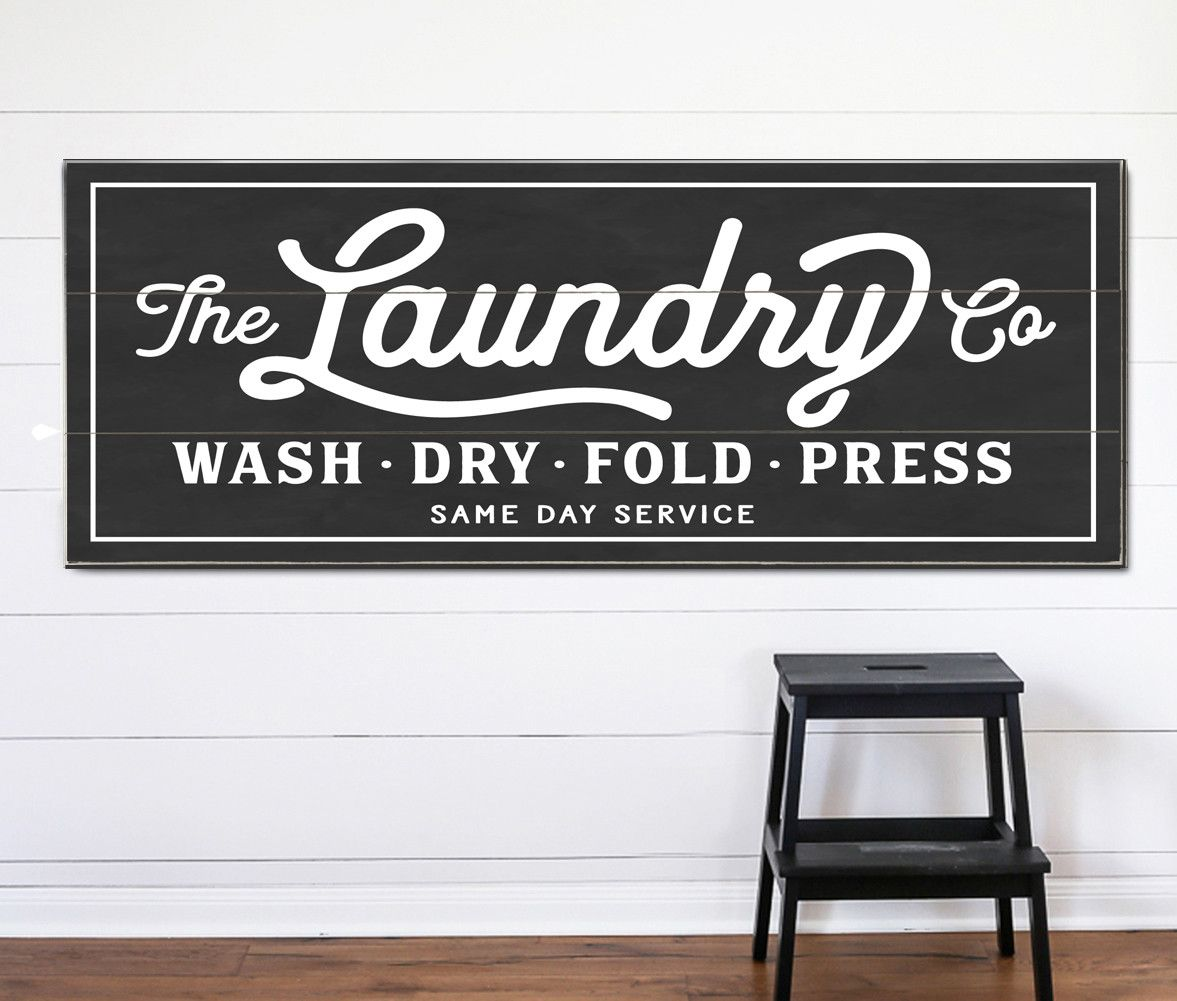 The Laundry Co. Sign Personalized Laundry room decor