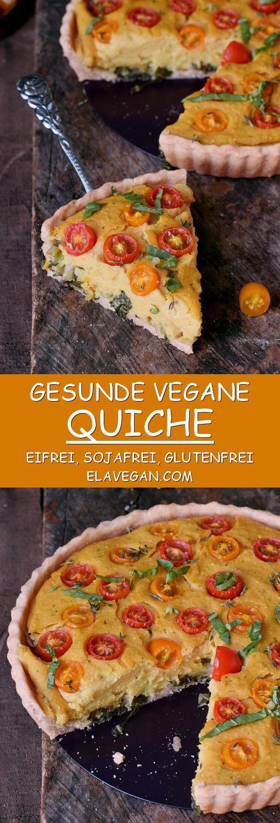 Vegane Quiche | glutenfrei, eifrei, sojafrei - Elavegan